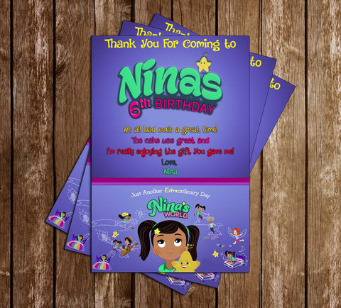 Nina's World - TV Show - Birthday Party - Invitation