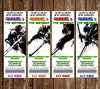 Teenage Mutant Ninja Turtles TNMT Movie Birthday Ticket Invitation