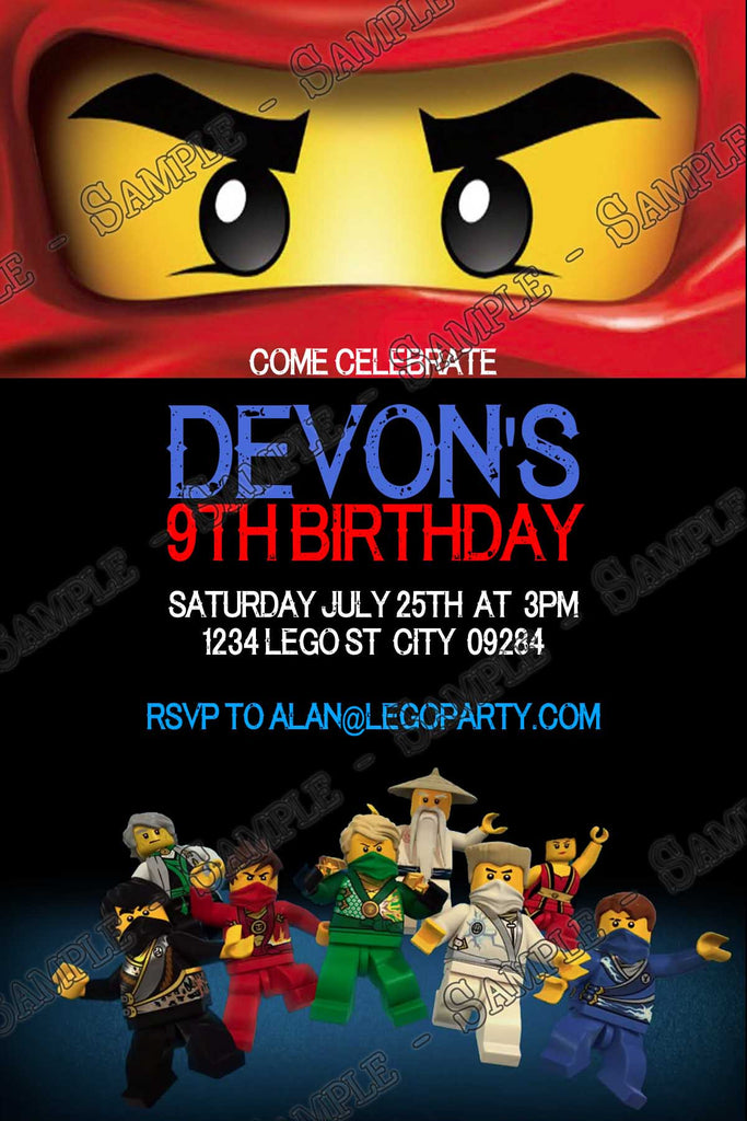Novel Concept Designs Lego Ninjago Movie Birthday Party Invitation