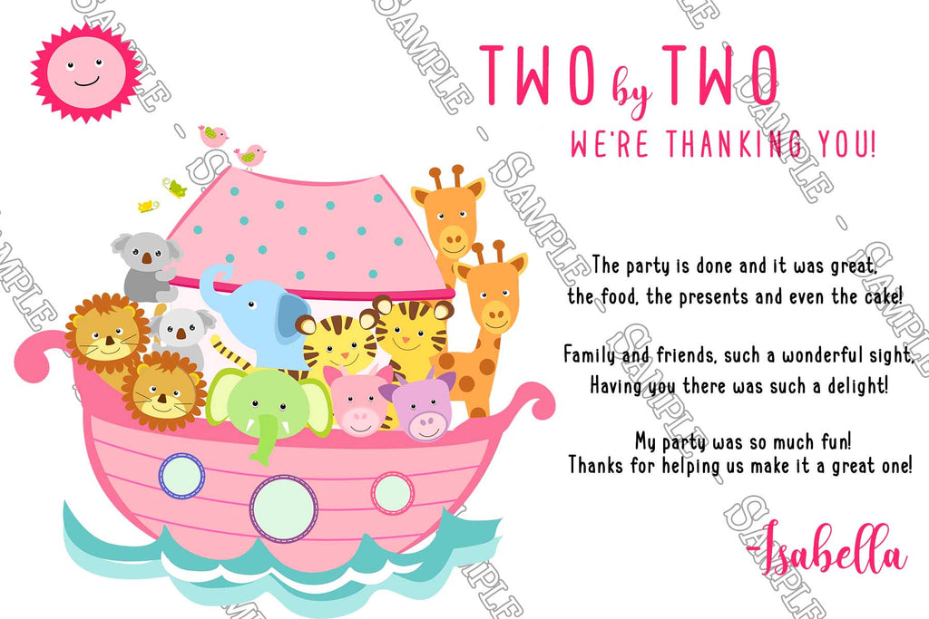 Novel concept designs noahs ark animals girls birthday noahs ark animals girls birthday party invitation filmwisefo