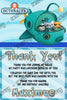 Octonaunts - Ocean Animals - Birthday Party - Thank You Card
