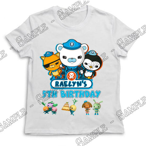 Octonauts - Birthday - T-Shirt - Personalized