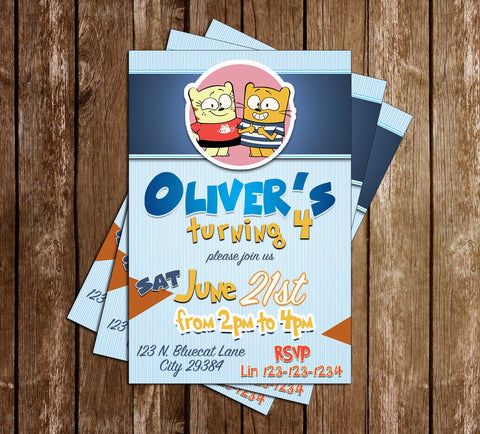 The Ollie & Moon Show - Tv Show - Birthday Party - Invitation