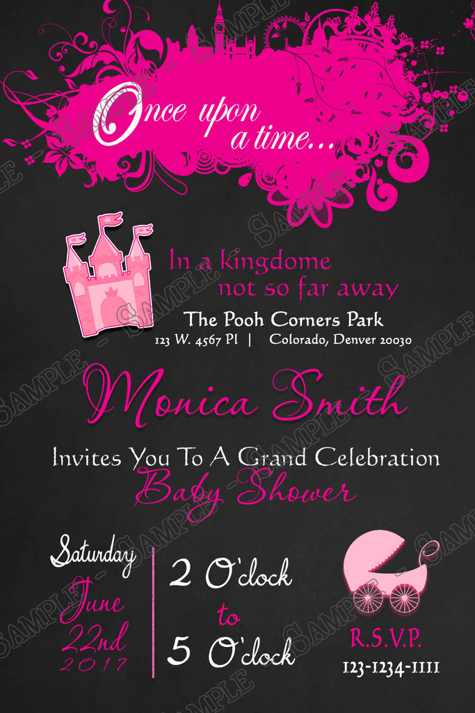 Novel concept designs once upon a time princess baby shower once upon a time princess baby shower invitation filmwisefo