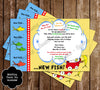 Dr Seuss One Fish - Two Fish Baby Shower Invitation
