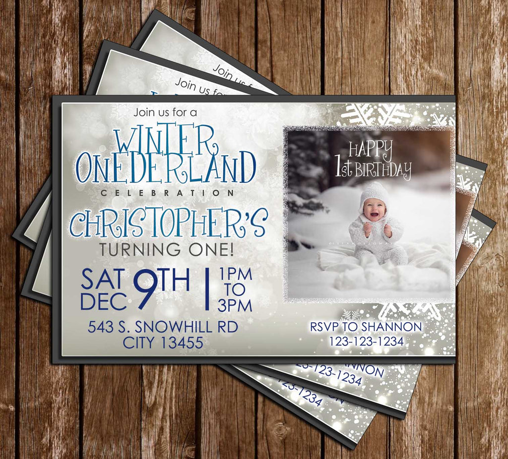 Novel Concept Designs - Winter One-derland - Boy - 1st Birthday ...