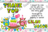 Patchwork Owl Show Birthday Thank You Card