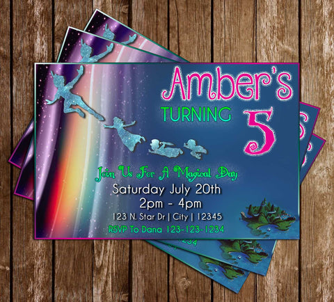 Peter Pan - Cartoon - Birthday Party - Invitation