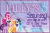 My Little Pony - Purple Sparkles -  Birthday Party - Invitation
