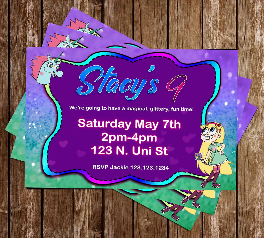 Star vs The Forces of Evil - Birthday Party - Invitations
