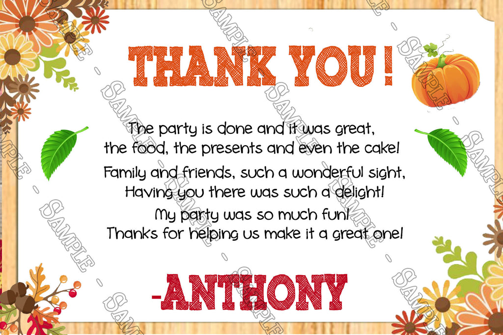 Thanks for inviting us to your birthday party choice image thanks for inviting us to your birthday party image collections novel concept designs our little pumpkin filmwisefo
