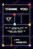 Pac-Man Birthday Party Thank You Card