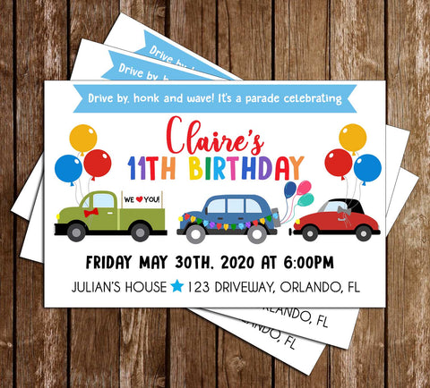Birthday - Parade - Party - Invitation