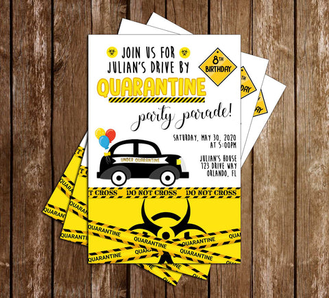 Birthday Parade - Quarantine - Party - Invitation