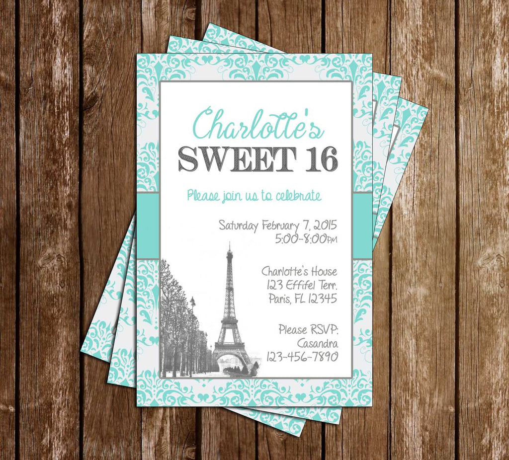 Novel Concept Designs - Paris Chic Tiffany\'s Sweet 16 Birthday Party ...