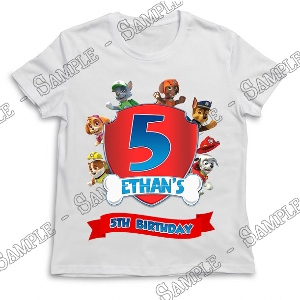 Paw Patrol - Birthday Child - T-Shirt - Personalized