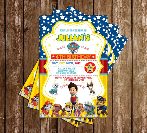 PAW Patrol - Paw-Some - Birthday Party Invitations