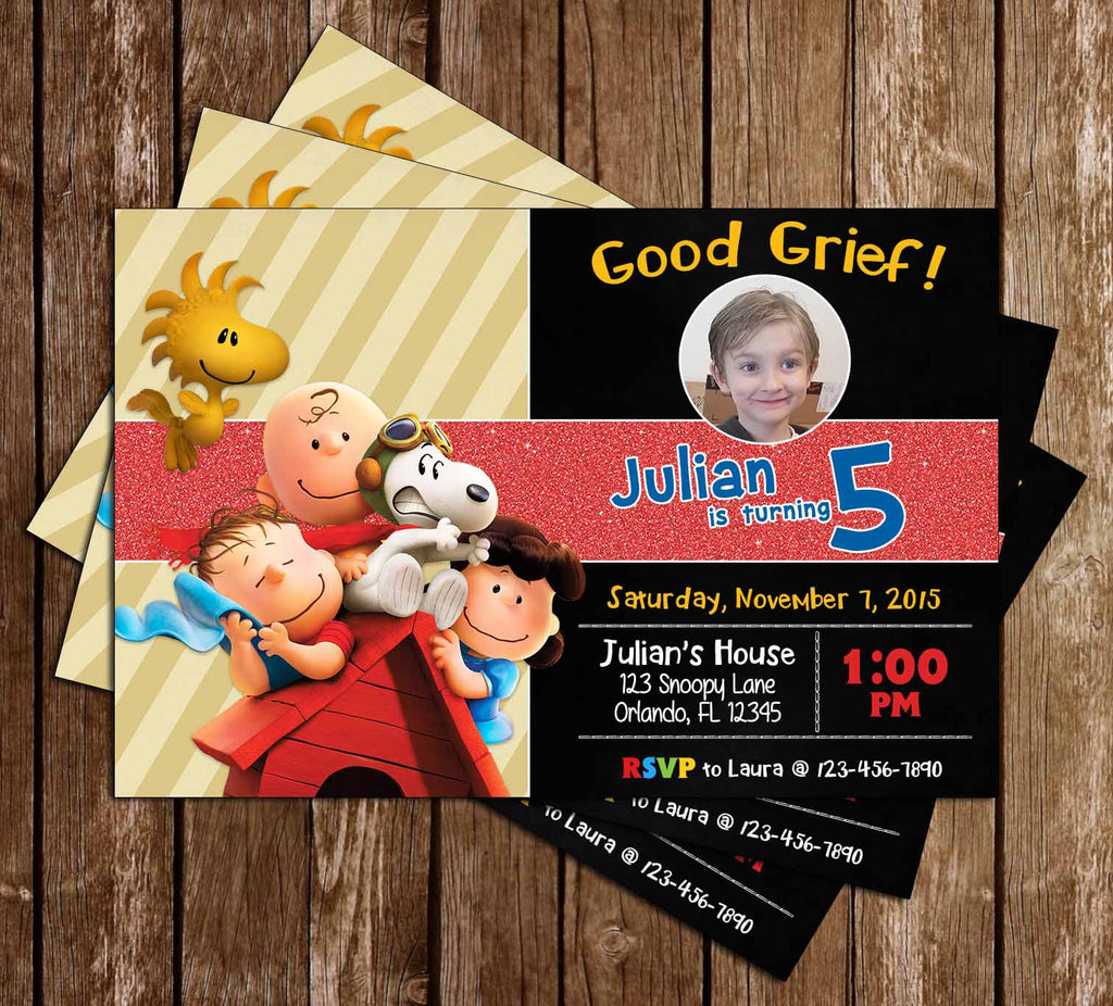 Novel Concept Designs - The Peanuts Movie Birthday Party Invitation