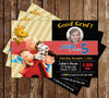Peanuts Movie Birthday Party Invitation with Photo