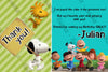 The Peanuts Movie Birthday Party Thank You Card