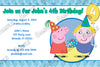 Nick Jr Peppa Pig Birthday Boy Party Invitation