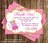 Nick Jr - Peppa Pig Fairy - Birthday Party - Thank You Card