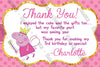 Peppa Pig Fairy - Nick Jr - Birthday Party - Thank You Card