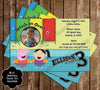 Peppa Pig Pool Party Birthday Party Invitation