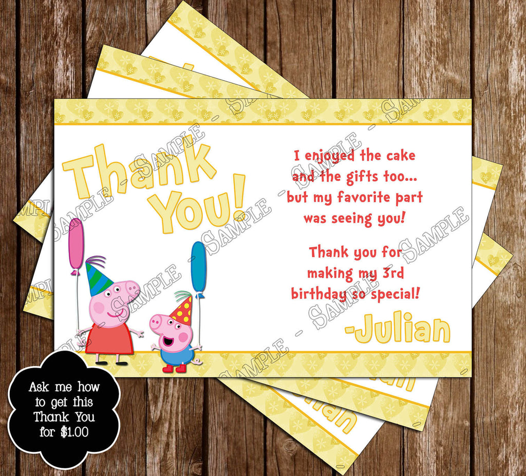 Novel Concept Designs Peppa Pig Pool Party Birthday Party Invitation – Pool Birthday Party Invitations