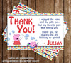 Peppa Pig Birthday Party Thank You Card