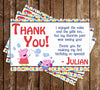 Nick Jr Peppa Pig Birthday Purple Thank You Card