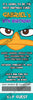 Disney Perry The Platypus Ticket Birthday Invitation