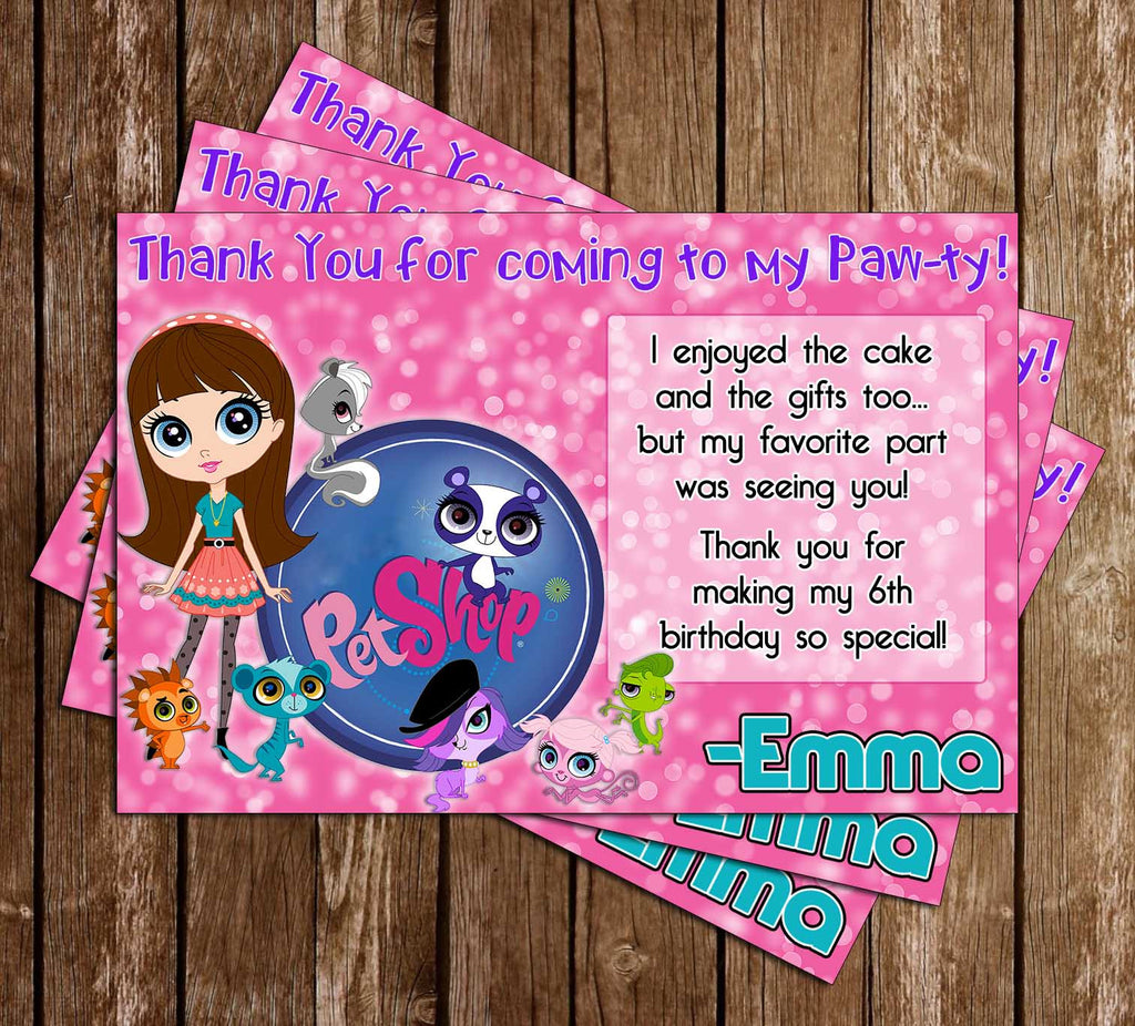 Novel Concept Designs The Littlest Pet Shop Birthday Party Invitation