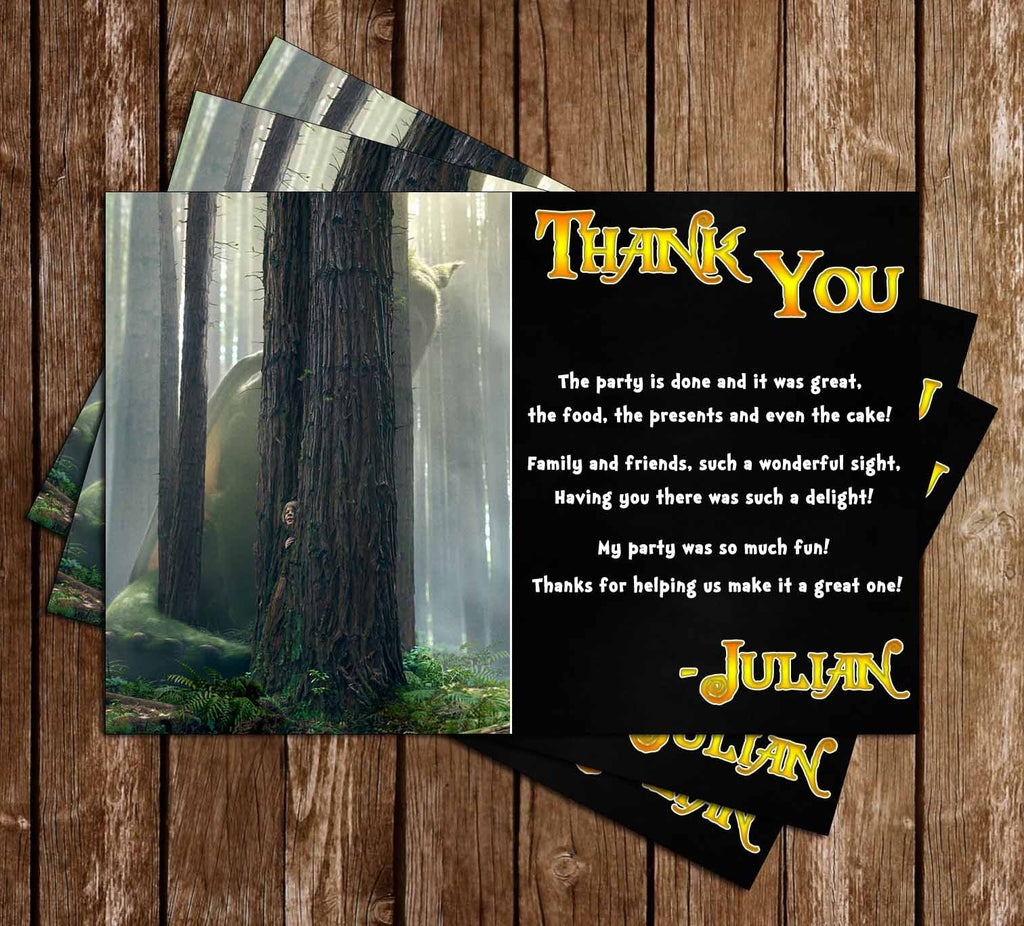 Pete's Dragon - Birthday Thank You Card