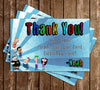 Phineas and Ferb Thank You Card (Blue)