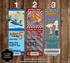 Disney Phineas and Ferb Ticket Birthday Invitation