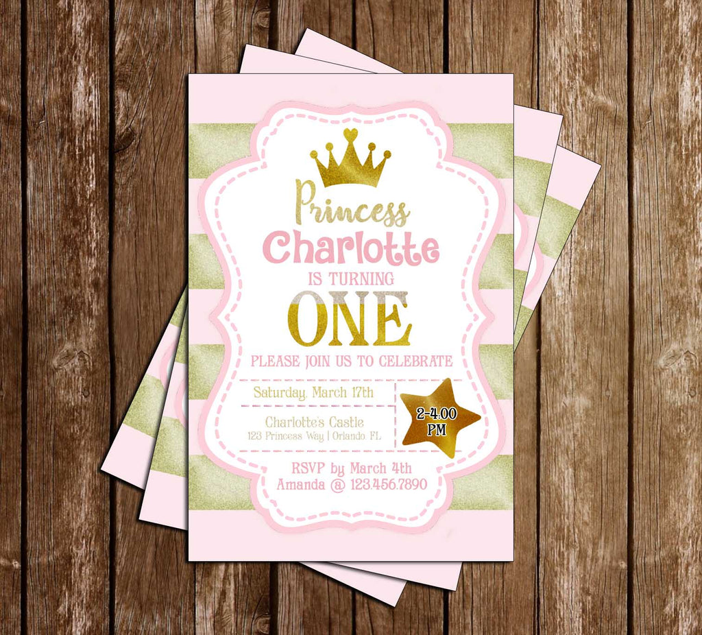 Novel Concept Designs Pink and Gold First Birthday Birthday