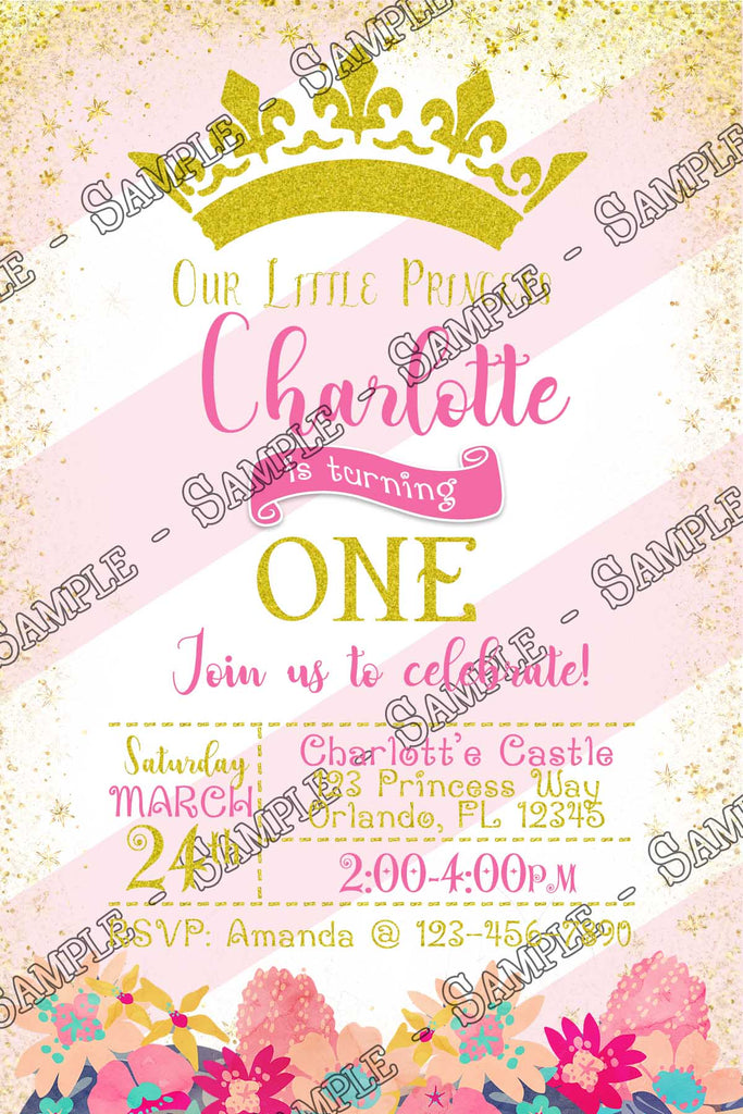 Novel Concept Designs - Pink and Gold - Floral Birthday - Princess ...
