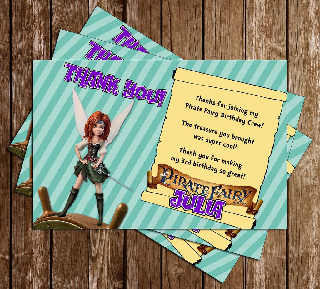 The Pirate Fairy Thank You Card