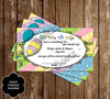 Oh The Places You'll Go - Baby Shower - Baby Predictions Card