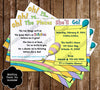 "Dr Seuss - Oh, The Places You'll Go - ""Bring a Book"" Baby Shower Invitation Insert"