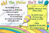 Dr Seuss - Oh The Places You'll Go - Baby Shower - Baby Predictions Card