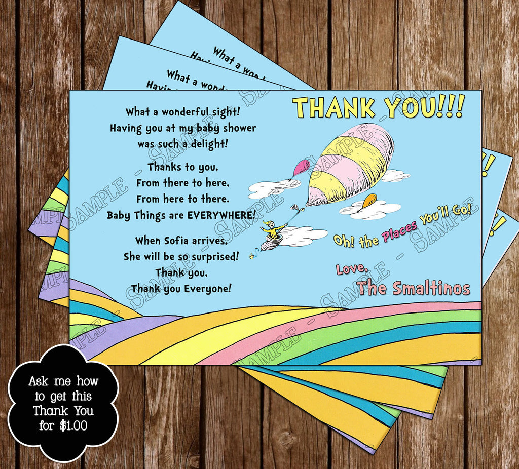 Novel Concept Designs - Oh The Places You'll Go - Baby Shower ...