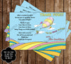 Dr Seuss - Oh The Places You'll Go - Baby Shower - Diaper Raffle Tickets