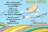 Doctor Seuss Oh The Places You'll Go Book Baby Shower Thank You