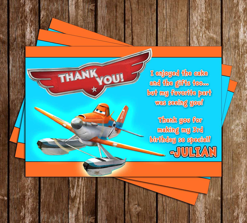 Disney's Planes Birthday Thank You Card