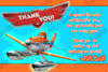 Planes Movie Birthday Party Ticket Invitation