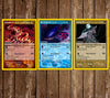Pokemon Card Birthday Party Invitation