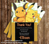 Pokemon Card Game Birthday Party Ticket Invitations