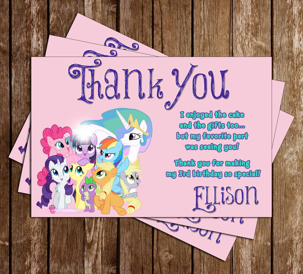 My Little Pony GroupThank You Card